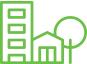 ícone de cidades para sistema de cftv